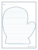 Mitten Writing Paper
