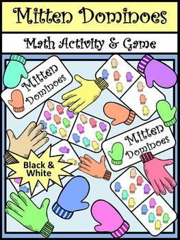 Mitten Activities: Mitten Dominoes Winter Math Game Activi