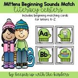 Mittens Beginning Sound Match! Literacy Center