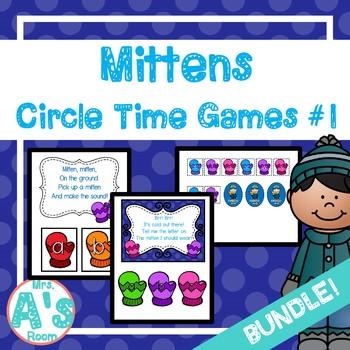 Mittens Circle Time Activities Set #1 **BUNDLE**