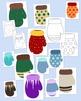 Mittens Clip Art Bundle Winter PNG JPG Blackline Commercial or Personal Pack 2