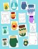 Mittens Clip Art Bundle Winter PNG JPG Blackline Commercial or Personal Pack 3