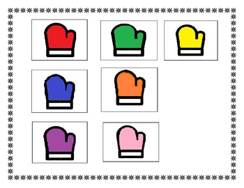 Mittens Colors and Matching Activity