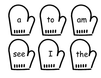 Mittens Common Core Literacy Centers ~ Memory ~ Write Room ~ Concentration