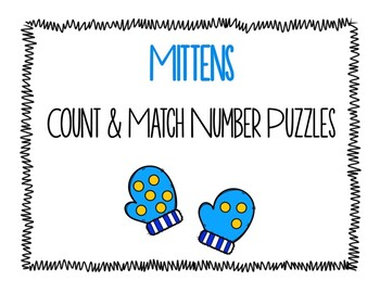 Mittens Count and Match Number Puzzles