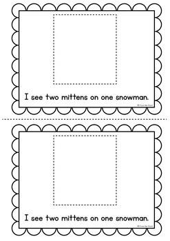 Winter Emergent Reader {Mittens}