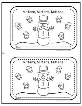 Winter Emergent Reader: Mittens, Mittens, Mittens