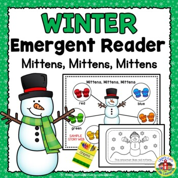 Winter Emergent Reader and Story Web: Mittens, Mittens, Mittens