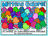 Mittens Galore! Clip art- Personal & commercial use (77 images)