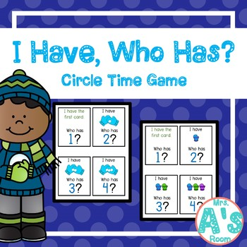 Mittens I Have, Who Has? Circle Time Game