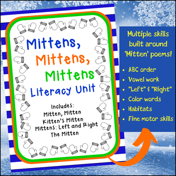 Mitten Themed Literacy, Math and Science Winter Activities