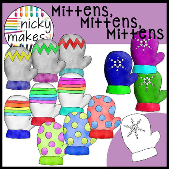 NickyMakes - Mittens Mittens Mittens Clipart