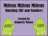 Mittens Mittens Mittens Matching ABC and Numbers