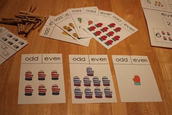 Mittens Odd and Even Numbers