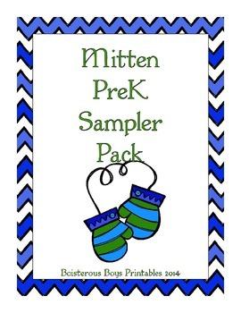 Mittens PreK Sampler Printable Pack