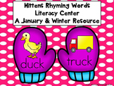 Winter Rhyming Words Literacy Center-A January/Winter Resource