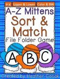 Mittens & Snowballs Alphabet Sort & Match File Folder Game {Pre-K, K}