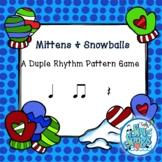 Mittens & Snowballs - Duple Rhythm Patterns - Rhythm Game Koosh Ball Level 1