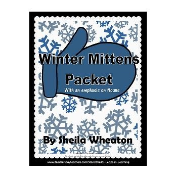 Winter Mittens Packet:  Literacy, Math, and More!