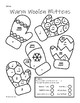 Mittens Worksheet - Color by Note - Quarter/Eighth/Sixteenth/Half/Whole/Rest