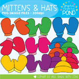Mittens and Hats - Plain Bright Set - Graphics From the Pond