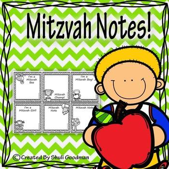 Mitzvah note freebie!