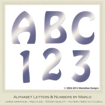 Blue White Mix Colors Flat Hobo Style Alpha & Number Graphics