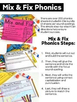 Mix & Fix Phonics Bundle