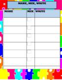 Mix Fix Write Sheet For Word Work Center