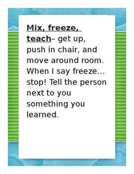 Mix, Freeze, Teach Strategy!