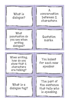 Mix It Match It Game - Dialogue edition!