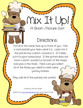 Mix It Up! - A Short i Picture Sort
