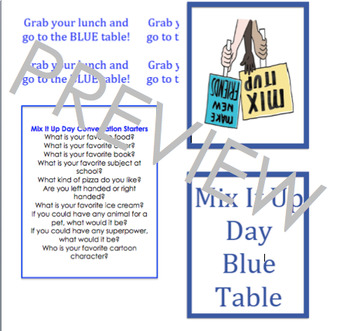 Mix It Up Day; Kindness and Friendship; Eat with Us; acceptance
