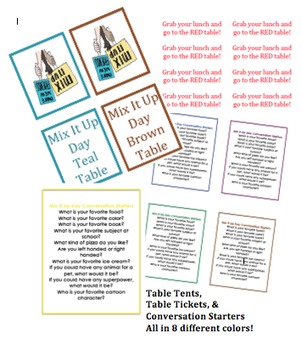 Mix It Up Day kit for encouraging friendship, meeting new