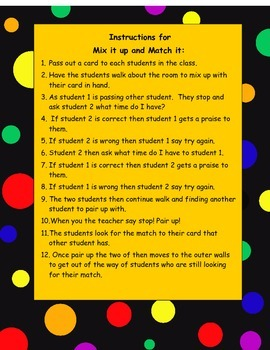 Mix It Up and Match It Clock #1