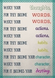 Watch your thoughts, for they become your words Poster