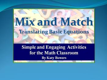 Mix & Match Activity - Translating Equations