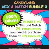 Mix & Match - Candy Land Classroom Decor Bundle #3 - 100%