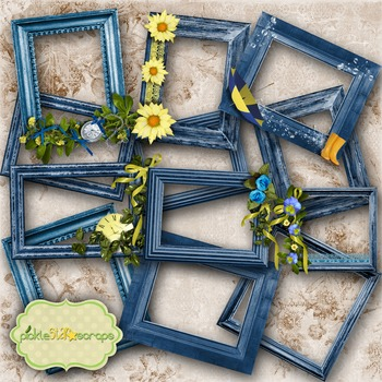 Mix & Match Collection Vol3 12 Digital Printable Frames CLUSTER Frames