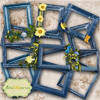 Mix & Match Collection Vol3 12 Digital Printable Frames CL