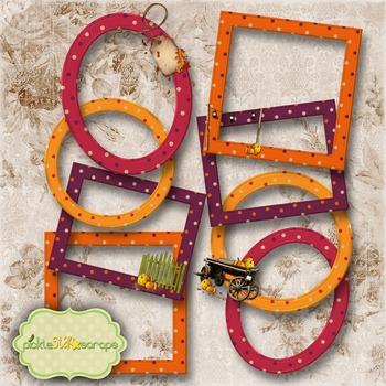 Mix & Match Collection Vol4 8 Printable Digital Frames CLUSTER Frames -