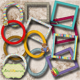 Mix & Match Collection Vol5 12 Printable Digital Frames Sc