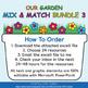 Mix & Match - Flower & Bugs Classroom Theme Bundle #3 - 100% Editable