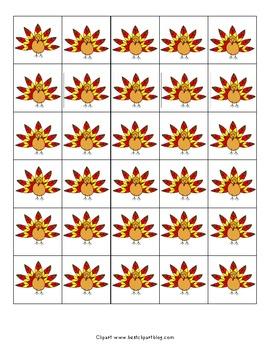 Mix & Match File Folder Game Board {Thanksgiving}