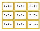 Mix & Match Game Cards {Multiplication}