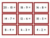 Mix & Match Game Cards {Simple Subtraction - Set 1}