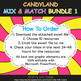 Mix & Match - Candy Land Classroom Decor Bundle #1 - 100% Editable