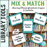 Dewey Decimal Posters for Library Media Center Turquoise