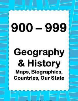 Library Skills: Dewey Decimal Signage for Media Center:  Mix & Match Red/Blue