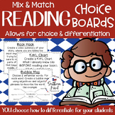 Reading Choice Boards (Mix & Match) - You Choose The Objectives